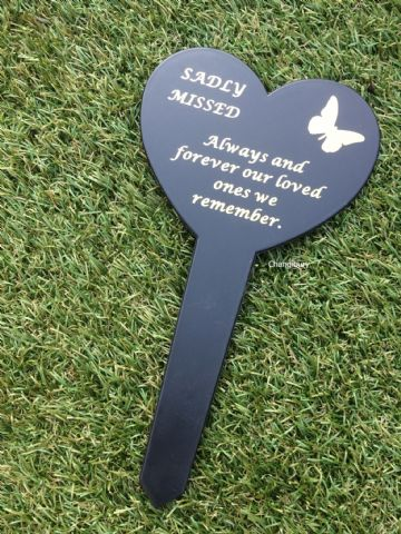 Graveside Memorial Butterfly Stake SADLY MISSED DF17917Y